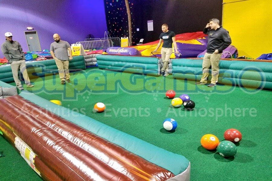 Human Billiards SuperGames Ohio Corporate College And Private Events - Human pool table